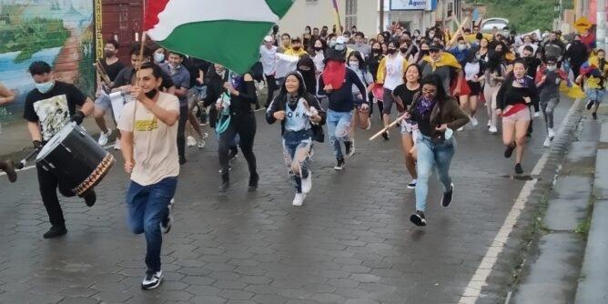 Nueva manifestación en Sandoná en respaldo al comité nacional del paro | Noticias de Buenaventura, Colombia y el Mundo