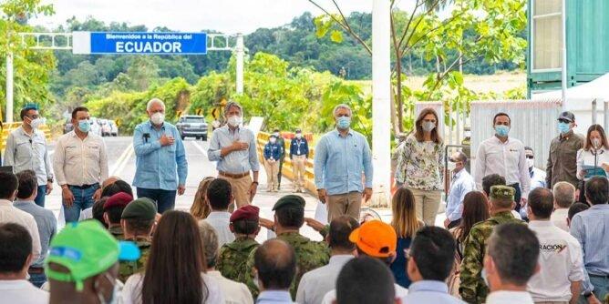 Presidentes de Colombia y Ecuador inauguraron vía Espriella – Río Mataje - Noticias de Colombia